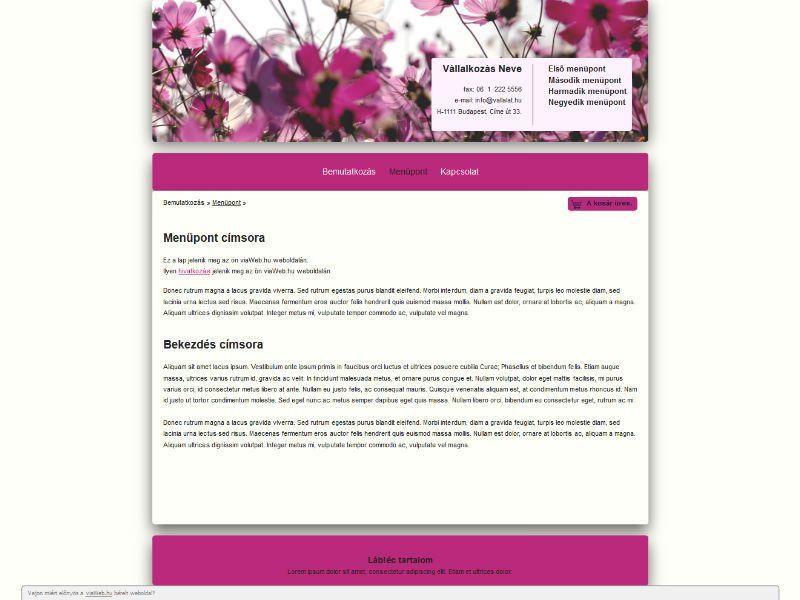 Flower sablon