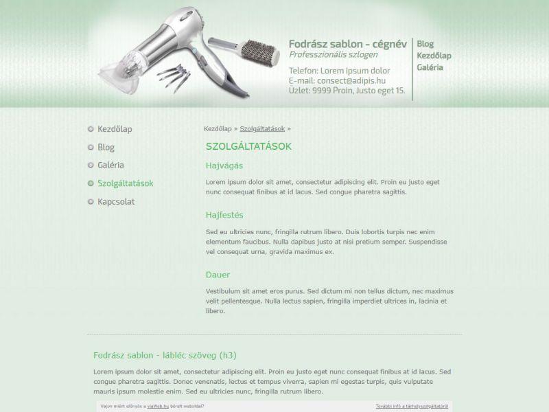 Fodrász sablon (zöld)